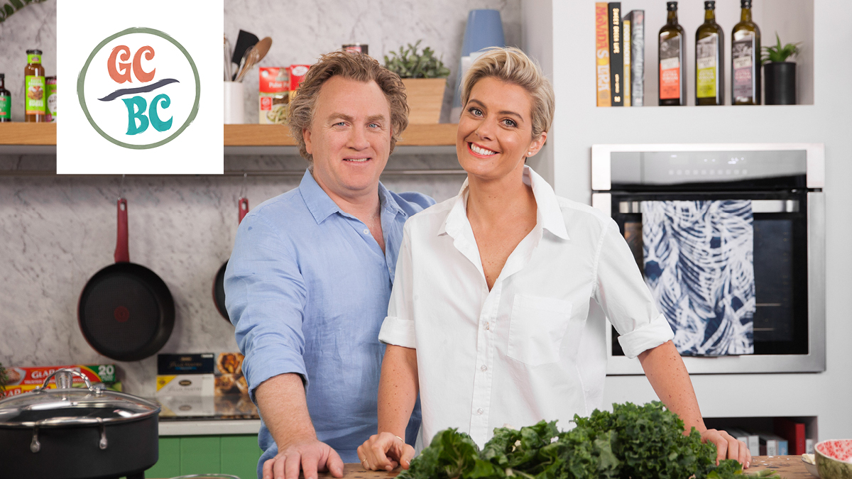 Rosie Mansfield & Adrian Richardson in the Good Chef, Bad Chef Kitchen.